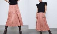Hit iz Zare: plisirana midi suknja od satena