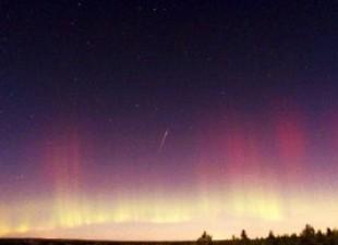 Kiša meteora na nebu