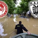Olimpijakos i Paok u borbi sa poplavama u Srbiji