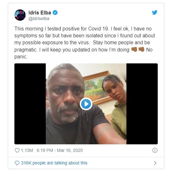 Idris Elba twitter