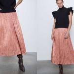 Zara plisirana-satenska-midi-suknja