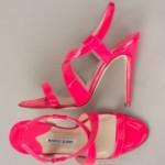 Fluorescentne crvene Manolo Blahnik sandale